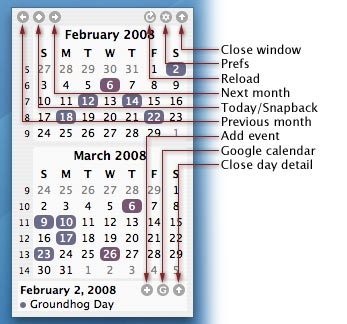 TinyCal - Google & Apple Calendar for Mac 7 tinycal