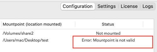 volumemanager errors mounting share