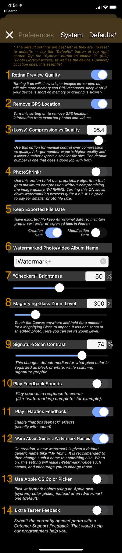 iWatermark+ Help 57 iWatermark+ Help
